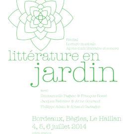 Littérature en Jardin #2014