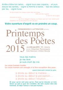 Affiche Printemps des poètes