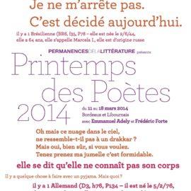 Le Printemps des poètes 2014