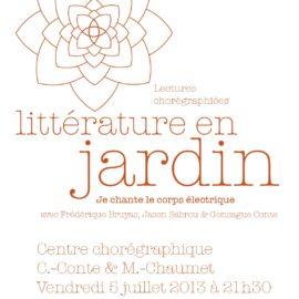 Littérature en jardin #2013