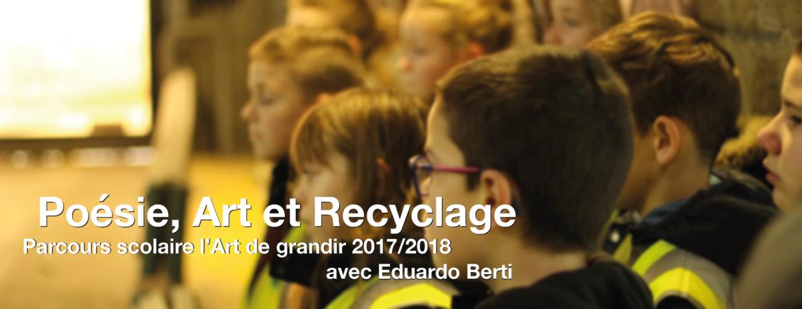 parcours scolaire poésie, art et recyclage