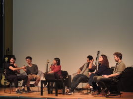 Les étudiants de 3iS Bordeaux s'emparent de Radio Ritournelles. Restitution du workshop mené avec leur enseignant, le compositeur Marco Gomes.