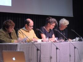 L'Anglais mêlé.  Lecture bilingue à quatre voix avec Caroline Bergvall, Anne Portugal, Abigail Lang et Vincent Broqua.