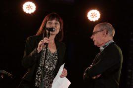 """Marie-Laure Picot, directrice du festival et Didier Arnaudet, président de Permanences de la littérature introduisent le rendez-vous de lectures """"pour Paul"""" à l'IBOAT."""