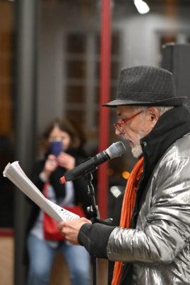Soirée lecture performance pour les 20 ans du festival Ritournelles, performance de Joël Hubaut