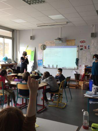 Pascale Petit à l'école Myriam Errera de Libourne