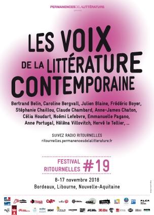 Festival Ritournelles 2018, les voix de la littérature